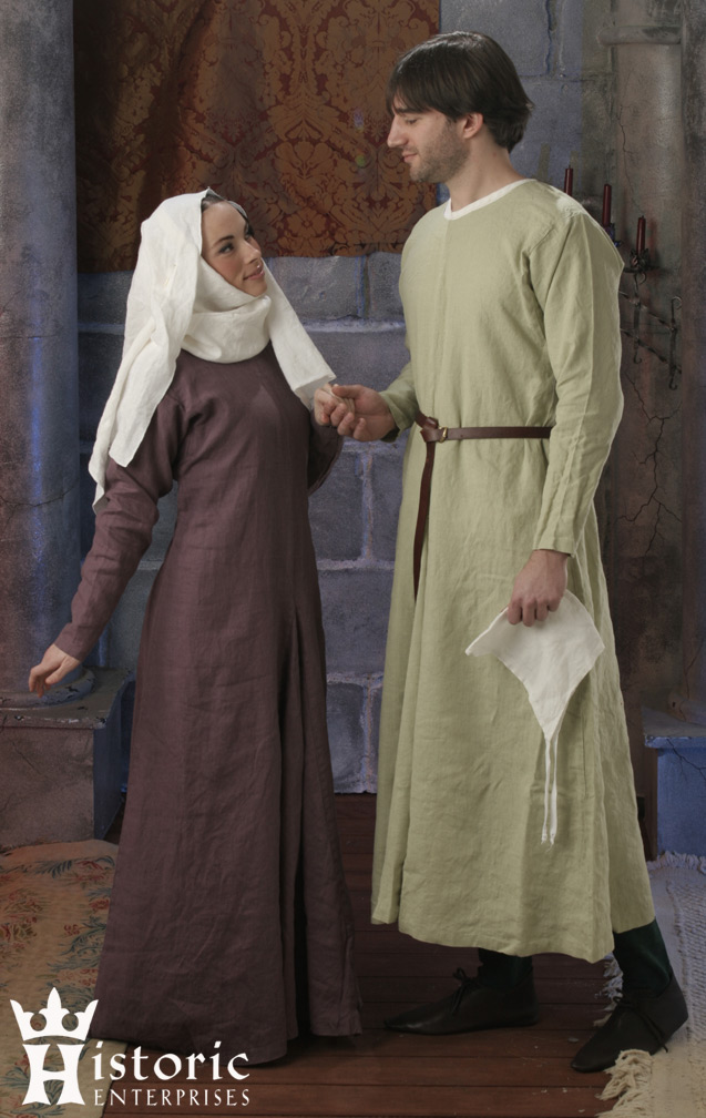 Gown, Early Medieval, 10th-13th Century, Linen