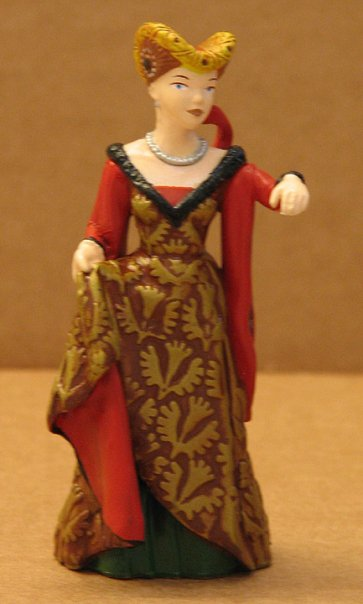 Medieval Lady Toy Figurine