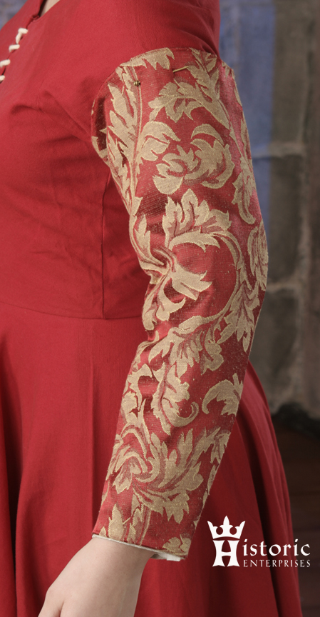Sleeves, Ladies, pin-on, 15th C. Brocade