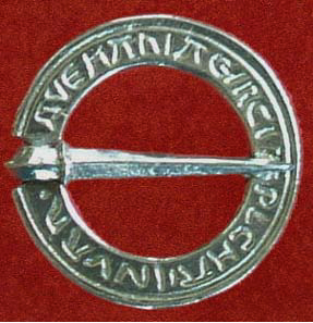 Brooch, Devotional annular 'Ave Maria', 13th century