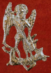 Badge, Pilgrim, Saint Michael, 14th-15th century