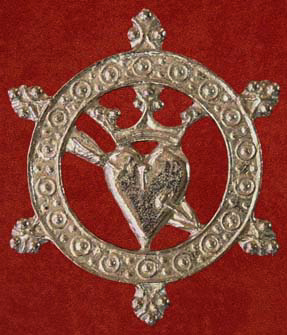 Badge, Pierced heart lovers' token, 15th century