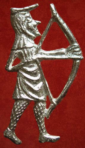 Badge, Secular, Longbowman, 14thˆearly 15th century