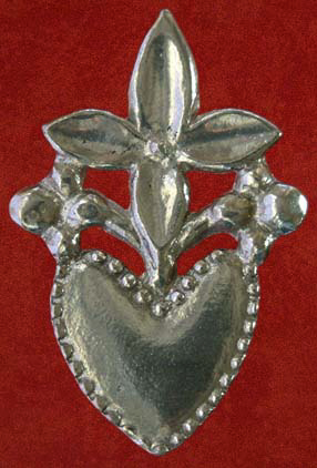 Badge, Flowering heart lovers' token, 14th-15th century