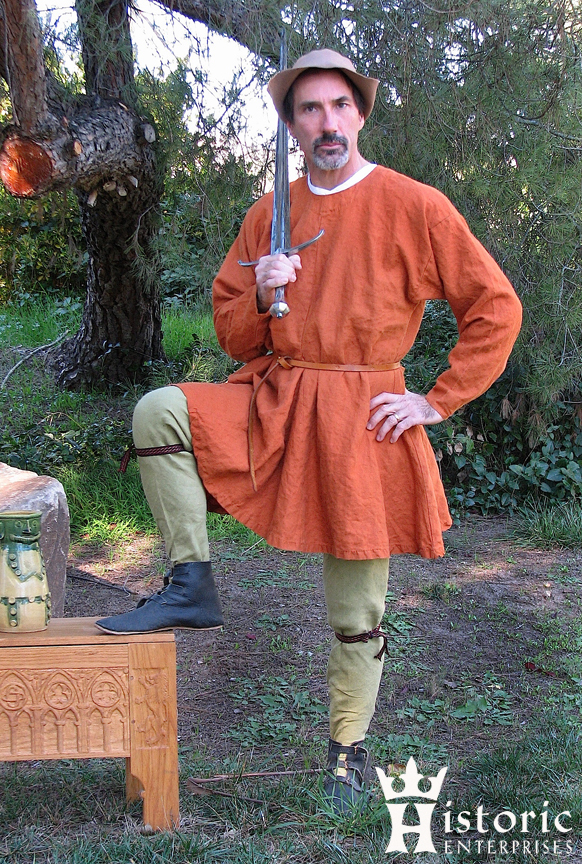 Outfit, 14th century, Tunic, Complete - Linen
