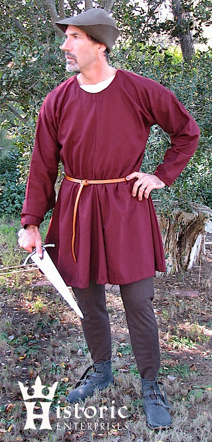 Outfit, 14th century, Tunic, Complete - Wool