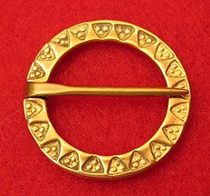 Brooch, Bronze, Annular, Punched