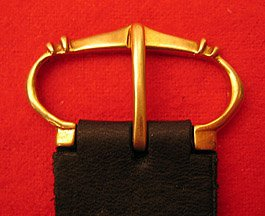 "Buckle, Bronze, 3/4"", 4 ridge"