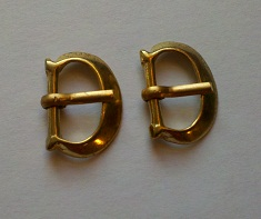 "Buckle, Bronze, Small ""D"", 1/2"", pkg of 2"