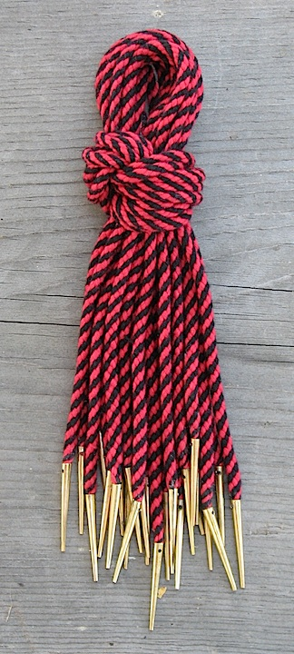 Points, red/black cord, bundle of 12