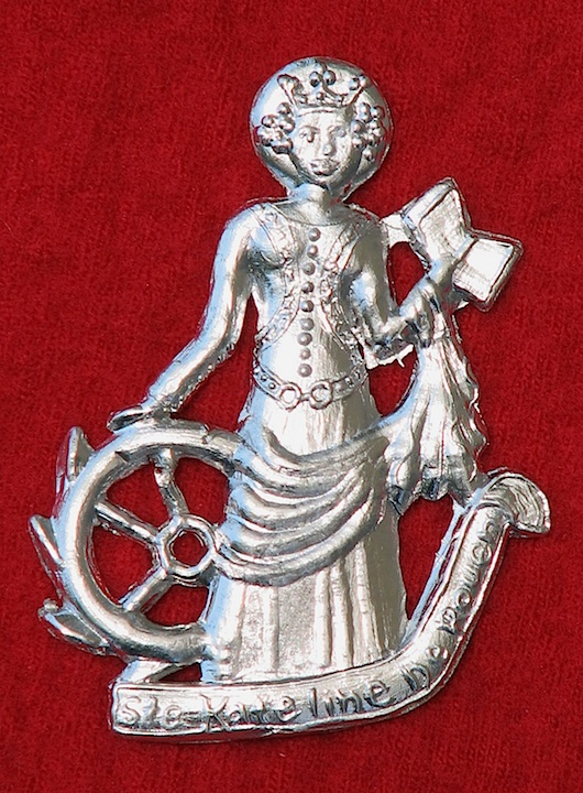 Badge, Pewter, St. Catherine