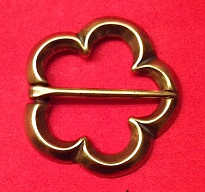 Brooch, Bronze, Annular, Cinquefoil