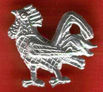 Pin, Pewter, Rooster