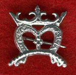Pin, Pewter, Crowned M