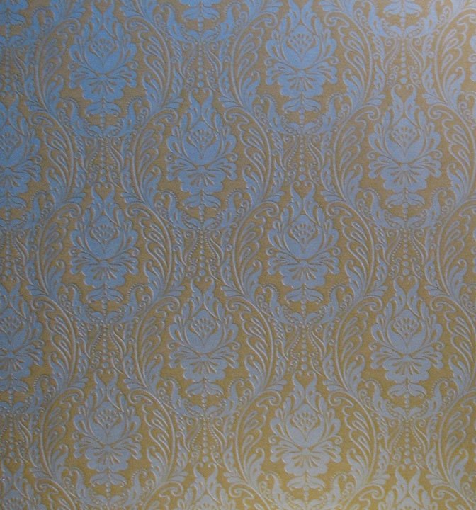 Gift wrap, Gold/silver damask
