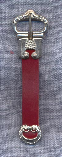 Buckle and Chape Set, Pewter, 15th C., 1/2""