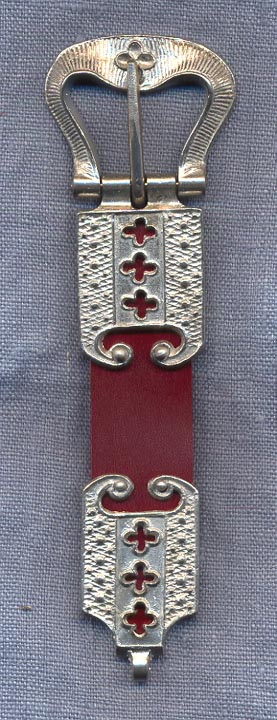 Buckle and Chape Set, Pewter, 15th C., 1""