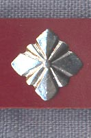 Mount, Pewter, ''Fluted Pyramid'', pkg of 3