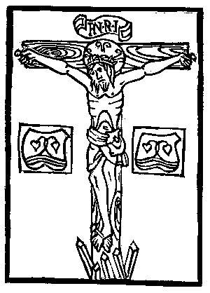 Woodblock Print, Crucified Christ