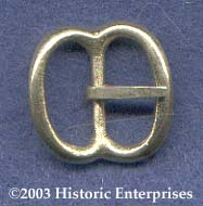 Buckle, Bronze, ''spectacle'', 1/2'', pkg of 2