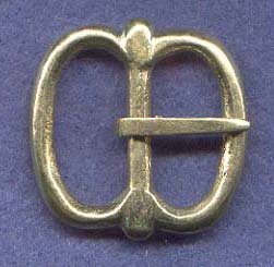Buckle, Bronze, Spectacle, 1""