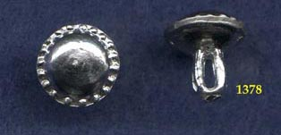 Button, Pewter, Large Domed, pkg of 4, 14th C.